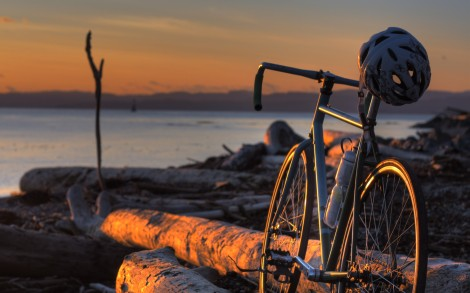 Bicycle Sunset WP